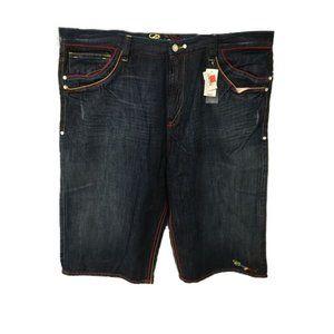 NWT Coogi NYC Wash Jean Shorts Sz 48
